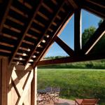 Design holiday Houses Rajsko for rent Sumava Czech Republic - covered porch