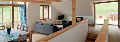 Design holiday Houses Rajsko for rent Sumava Czech Republic