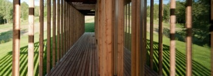 Design holiday Houses Rajsko - covered wooden deck