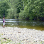 Otava river is just about 200 metres from our houses. It´s very refreshing to put your feet in the water. Swiming is possible but only for strong people - water isquiet cold even in the summer time. Children love making small pounds with pebbles. Fly fishing is also possible.