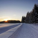 Winter in Sumava mountains.