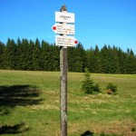 There are hundreds km of hiking trails in the Sumava mountains. They are very well marked, you can´t get lost.